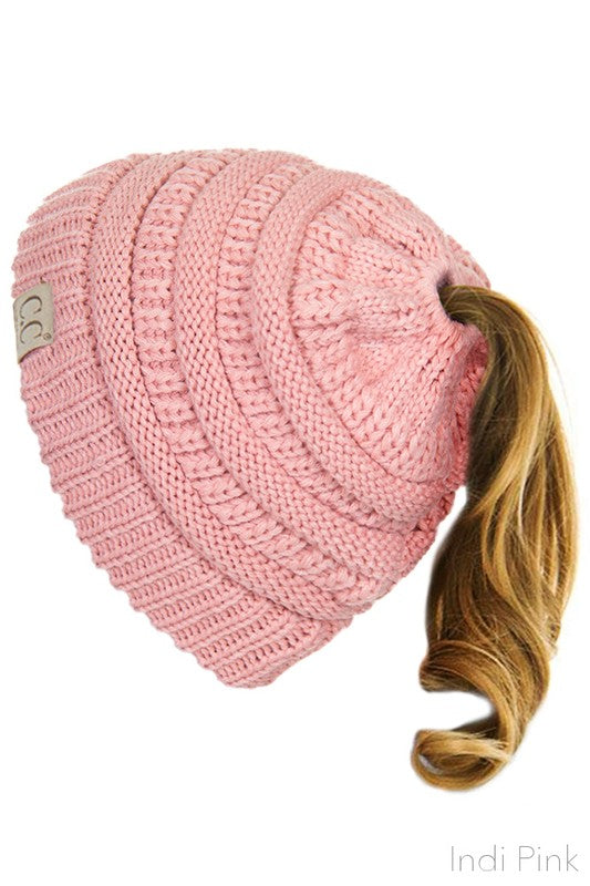 bf9438cb6ea CC Pony Tail Beanie - Kids   Adult - Many Colors! – Jourdan s Jewels