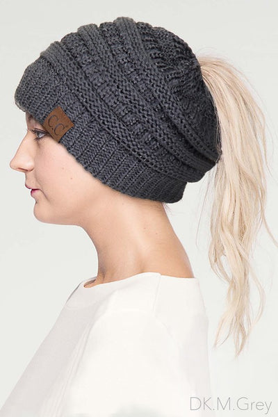 CC Metallic Pony Tail Beanie - 5 Colors! - Jourdan's Jewels