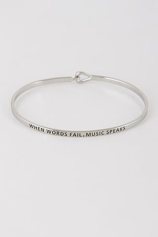 When Words Fail, Music Speaks Bangle - 2 Colors - Jourdan's Jewels