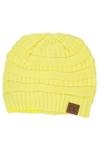 CC Beanie - Neon Yellow - Jourdan's Jewels