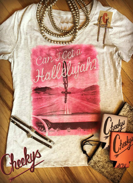 Can I Get a Hallelujah Shirt in Pink - Jourdan's Jewels