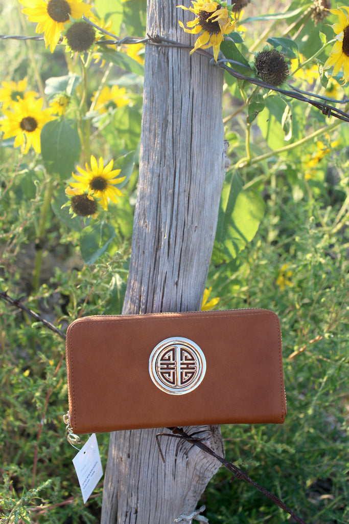 Tan Zip Around Wallet - Jourdan's Jewels