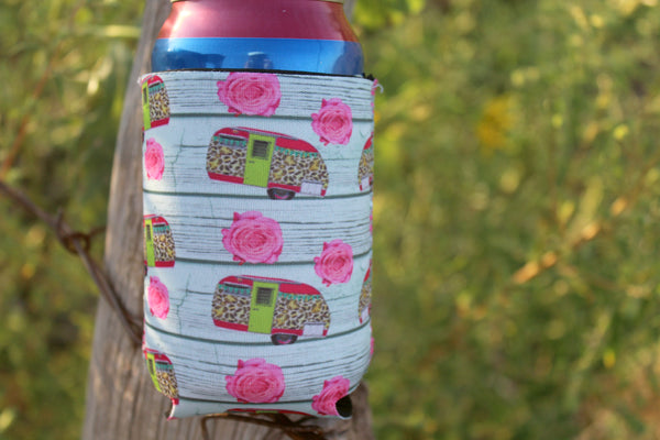 Camper and Rose Coozie - Jourdan's Jewels