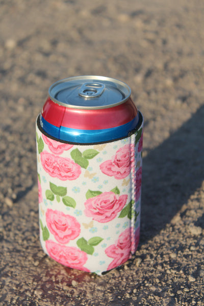 Pink Rose Coozie - Jourdan's Jewels