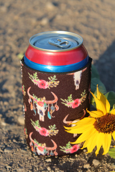 Colorful Bull Skull Coozie - Jourdan's Jewels