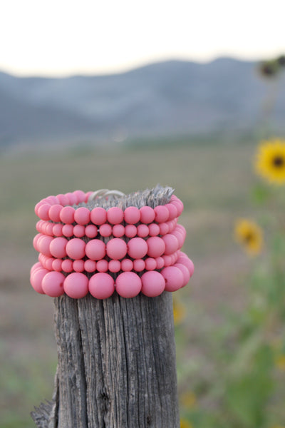 Coral Beaded Bracelet Set - Jourdan's Jewels