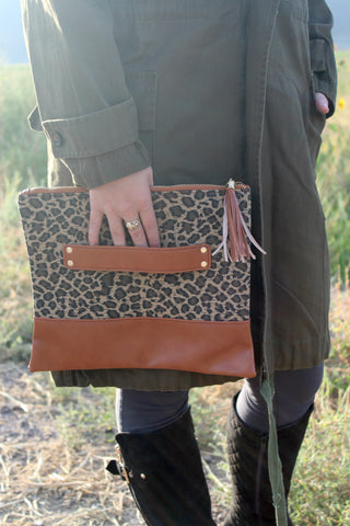Leopard Print Clutch - Jourdan's Jewels