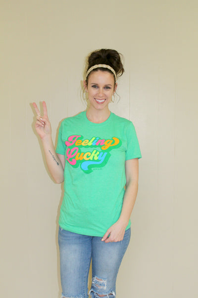Feeling Lucky Green Tee - Jourdan's Jewels