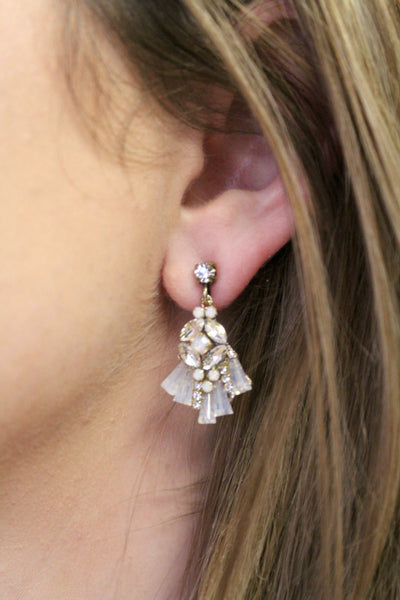 Clear Hilton Post Earrings - Jourdan's Jewels
