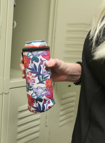 Water Bottle/Tall Boy Coozie - Dark Floral - Jourdan's Jewels