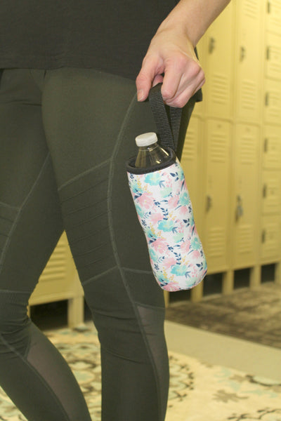 Water Bottle/Tall Boy Coozie - Pastel Floral - Jourdan's Jewels