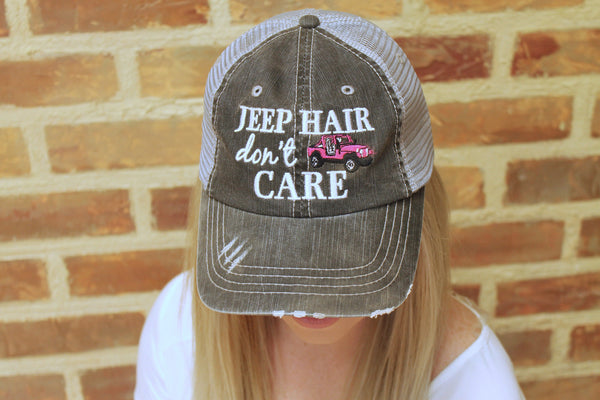 Jeep Hair, Don't Care Hat - 3 Colors