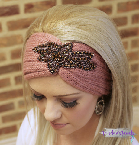 Staci Headwrap - Mauve - Jourdan's Jewels