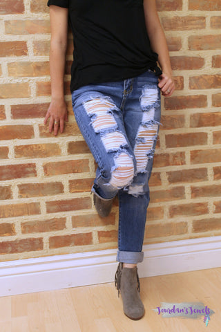 Distressed Holey Jeans
