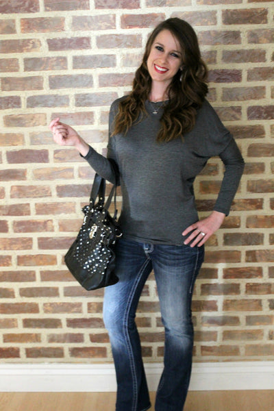 Black Polka Dot Purse