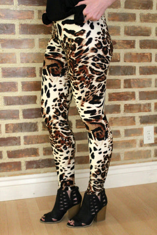 Leopard Spot and Stripe Leggings - Jourdan's Jewels