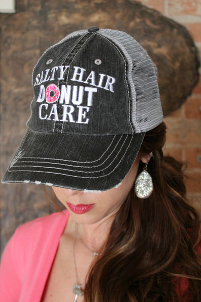 Salty Hair, Donut Care Hat - Jourdan's Jewels