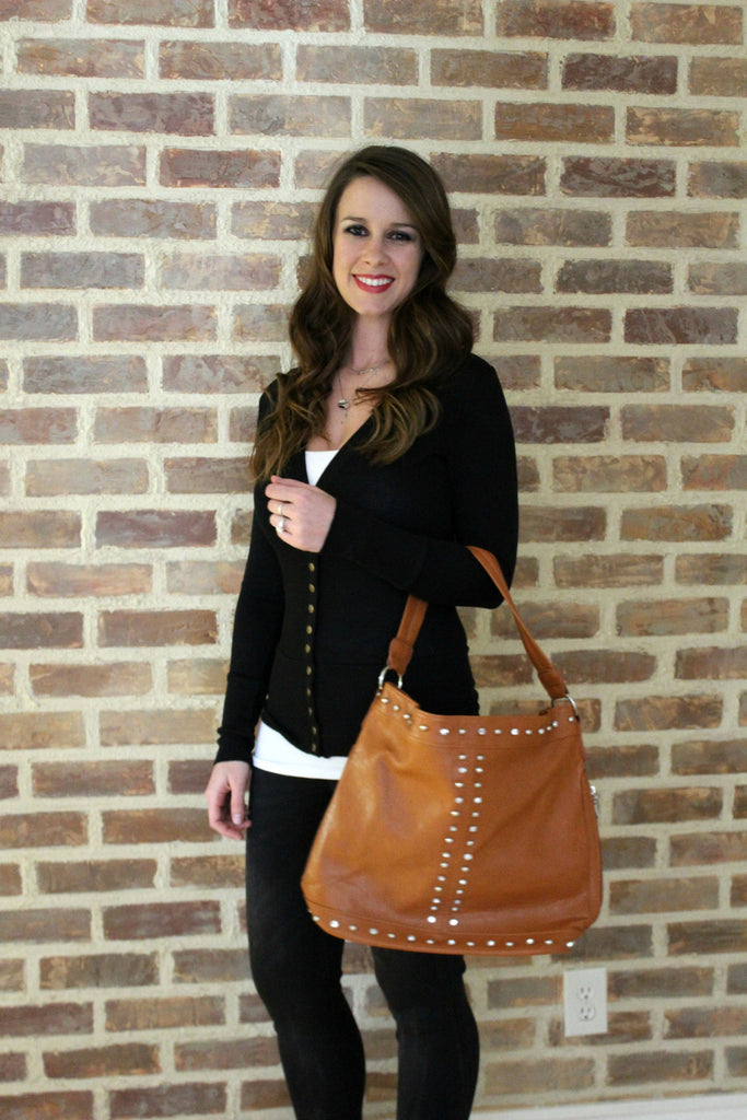 Cognac Shoulder Purse