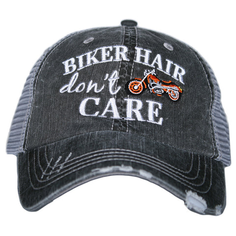 Biker Hair, Don't Care Trucker Hat - 4 Colors