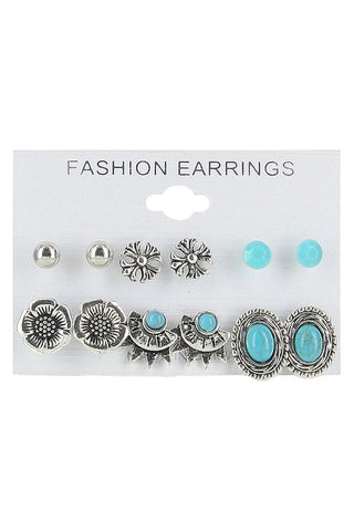 Assorted Earrings - 6 Pair - 3 Colors! - Jourdan's Jewels