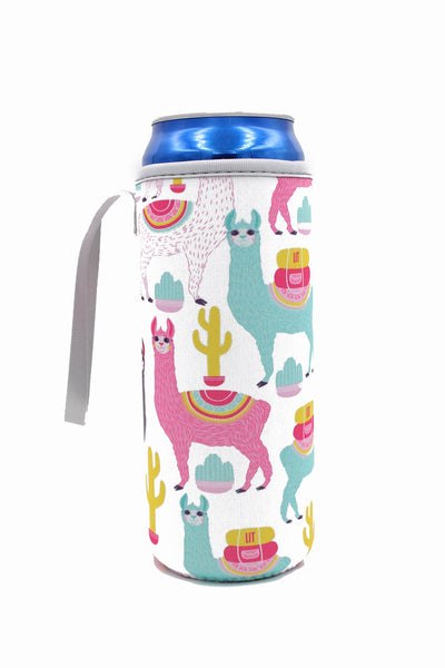 Water Bottle/Tall Boy Coozie - Llama