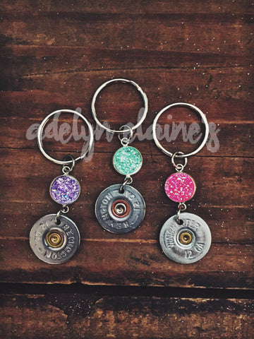 Druzy Bullet Keychain - Jourdan's Jewels