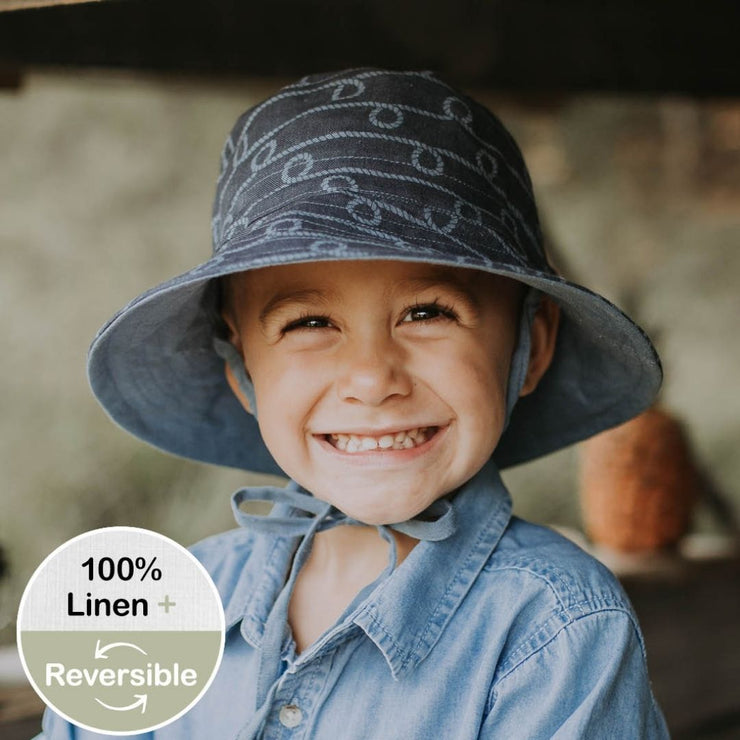 BEDHEAD HATS REVERSIBLE CREWE STEELE Bucket Sun Hat Boys