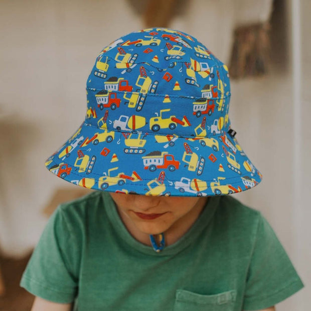 Bedhead Hats Construction Classic Bucket Hat for boys front view