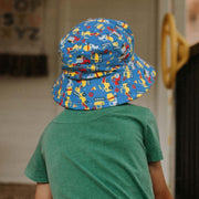Bedhead Hats Construction hat with trucks and cranes for boys