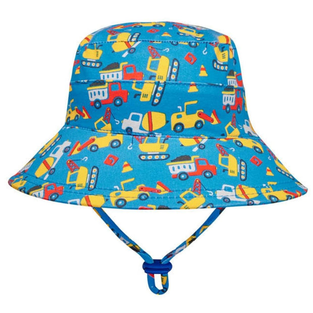 Bedhead Hats boys toddler hat with trucks and cranes