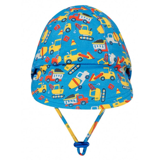 Bedhead Hats Construction legionnaire hat for baby boys back view