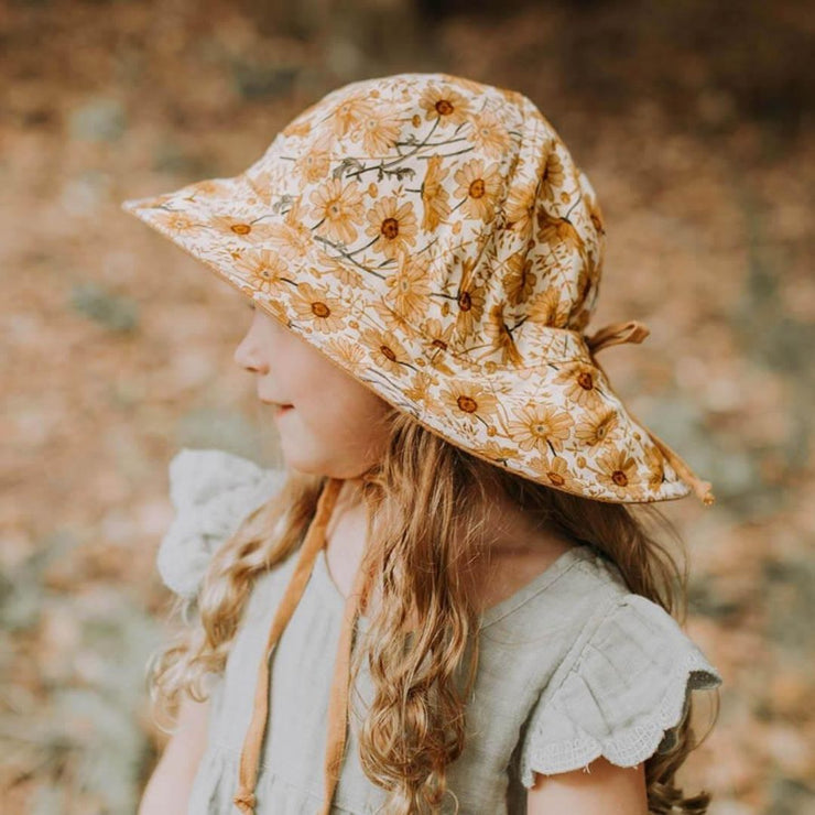 Bedhead Hats Marguerite Heritage Classic Bucket Hat Girls side view