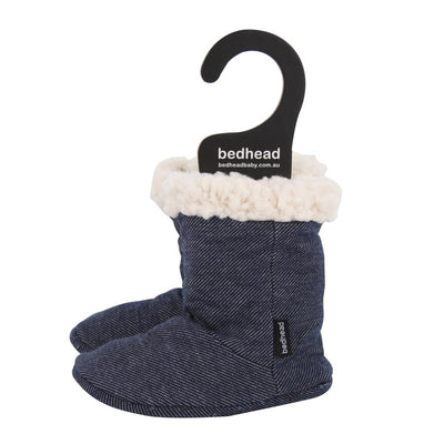 Bedhead baby booties lined with sherpa fleece