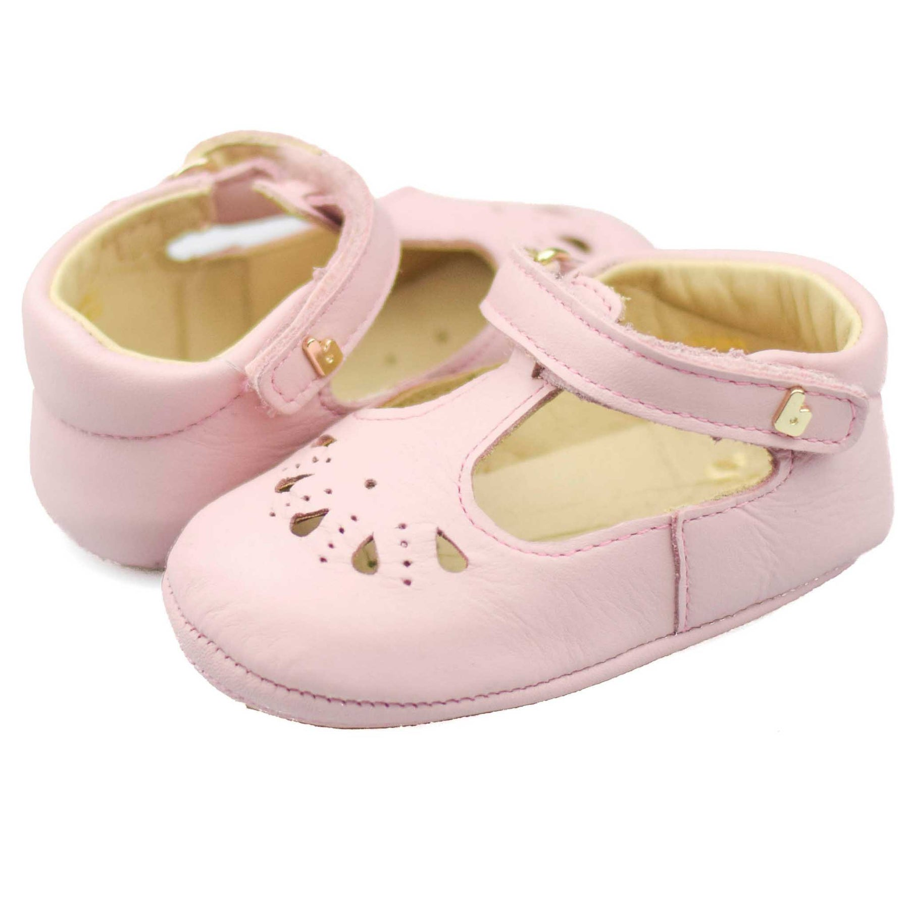 0 to 2 years. NEW SKEANIE Pre-walker Leather T-Bar Shoes Rose Gold