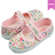 CIENTA FLORA Pink Canvas Mary Jane