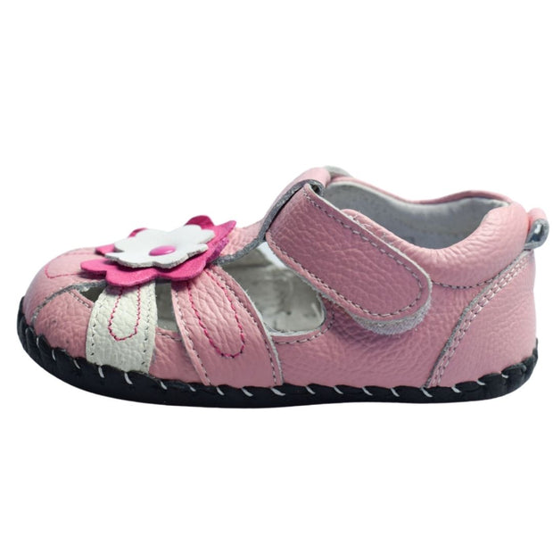 Freycoo Daisy Soft Sole Baby Sandals Pink side view