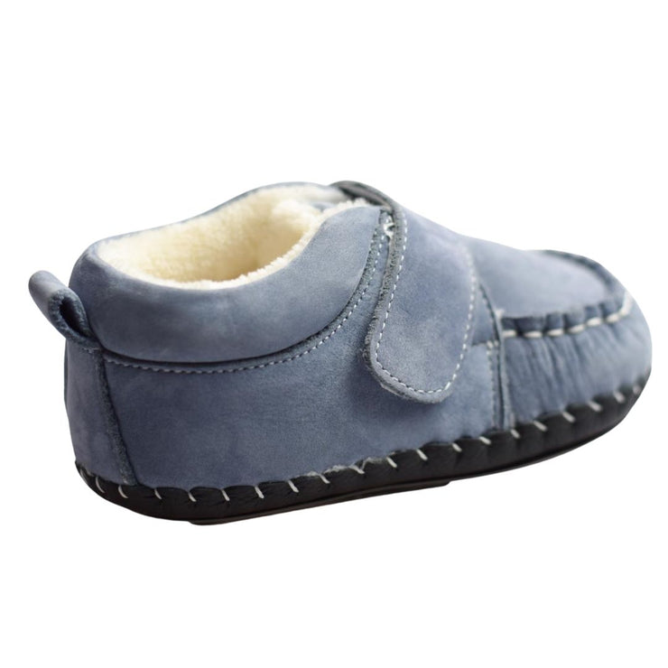Freycoo first steps denim blue baby slippers
