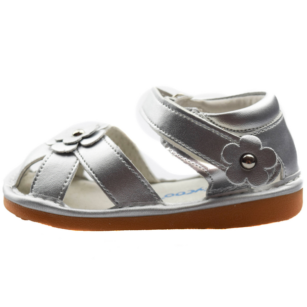Freycoo Silver Sandals for girls side view