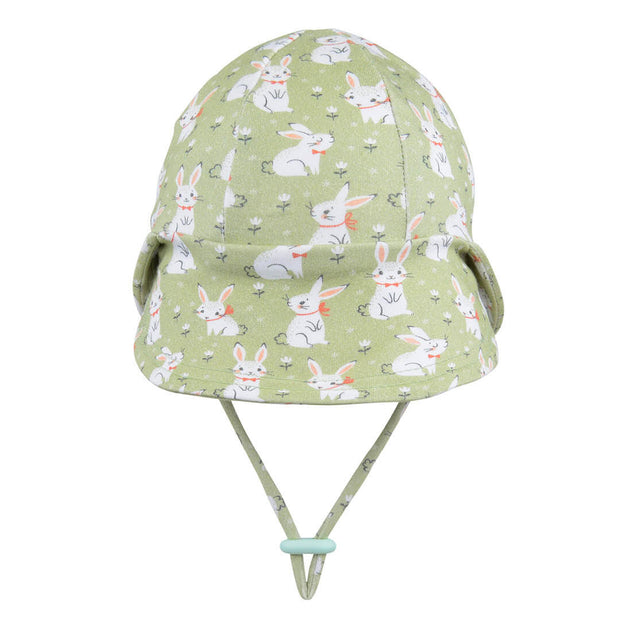 Bedhead Hats baby legionnaire hat with bunnies back veiw