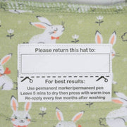 Bedhead Hats return label on legionnaire hat