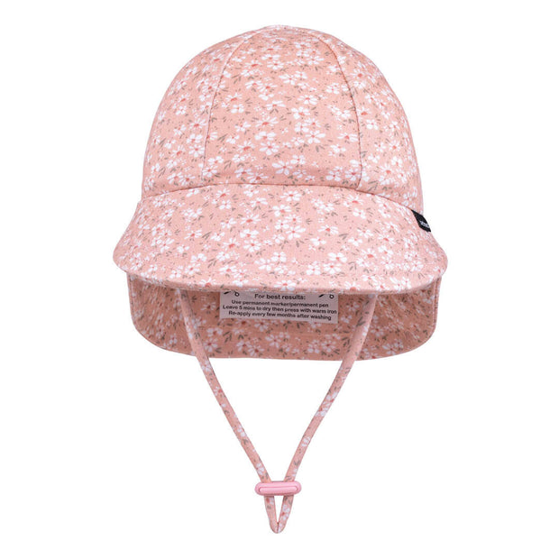 Bedhead Hats Sophia legionnaire baby hat pink with flowers