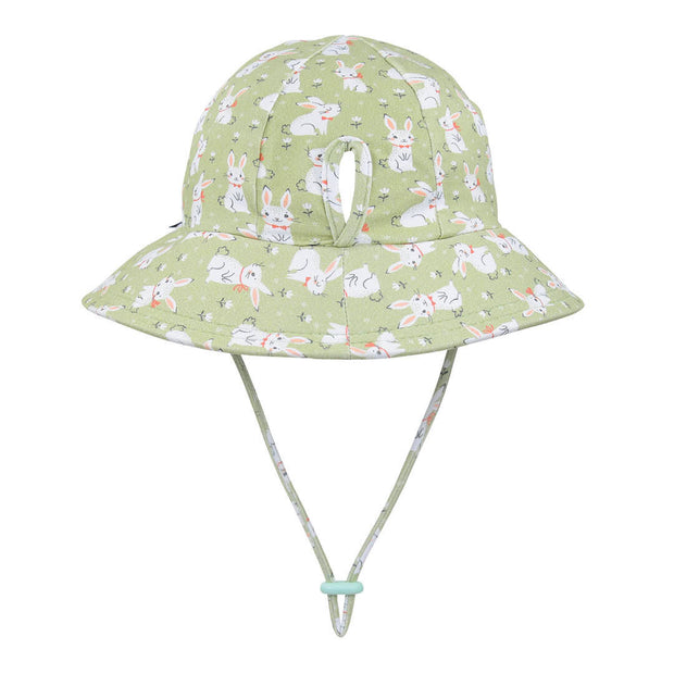 Bedhead Hats Ponytail bucket hat with bunnies for toddlers