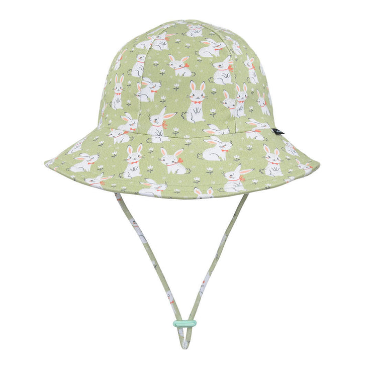Bedhead Hats ponytail bucket hat side view for toddlers