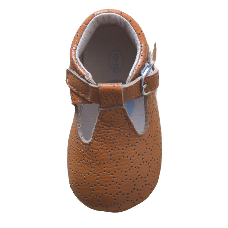 JUST RAY BABY MILLY T-Bar Toddler Chestnut