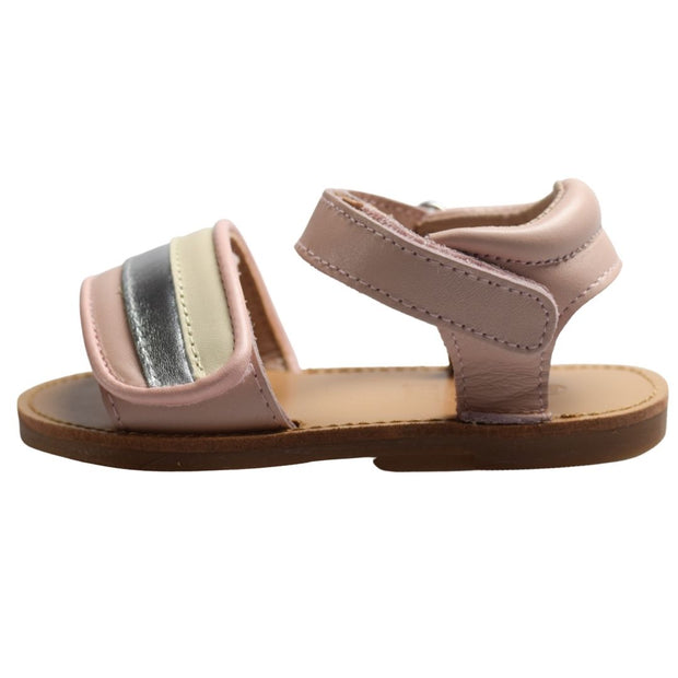 Just Ray Baby Dusi Pink toddler sandals side view