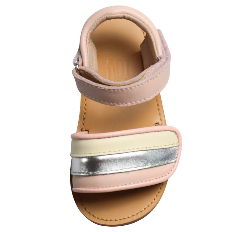 Just Ray Baby Dusi Pink toddler sandals overhead view