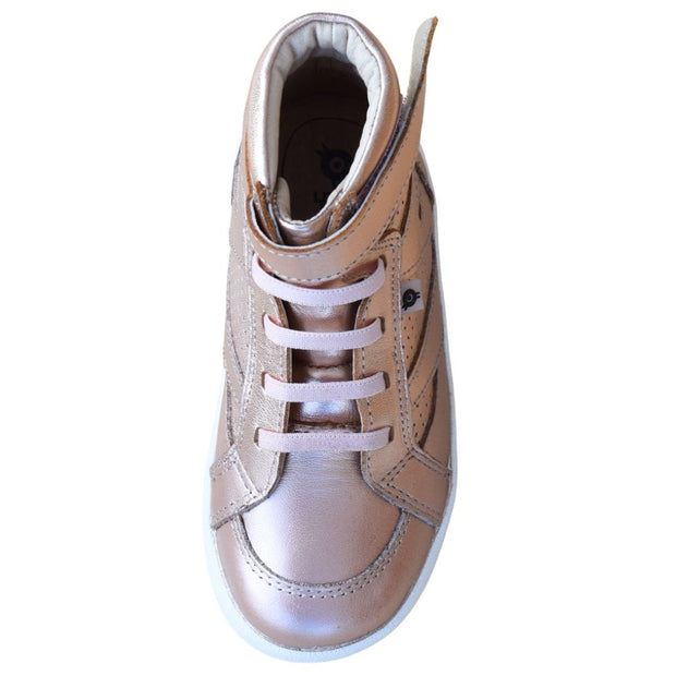 Old Soles The Leader Copper High Top Sneaker for kids overhead view