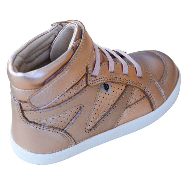 Old Soles The Leader Copper Sneaker Velcro strap view