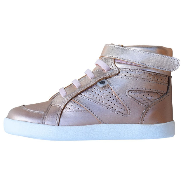 Old Soles The Leader Copper High Top Sneaker side view