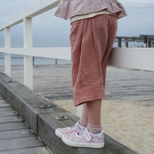 Liberty London Betsy Ann canvas by Walnut Melbourne kids shoes